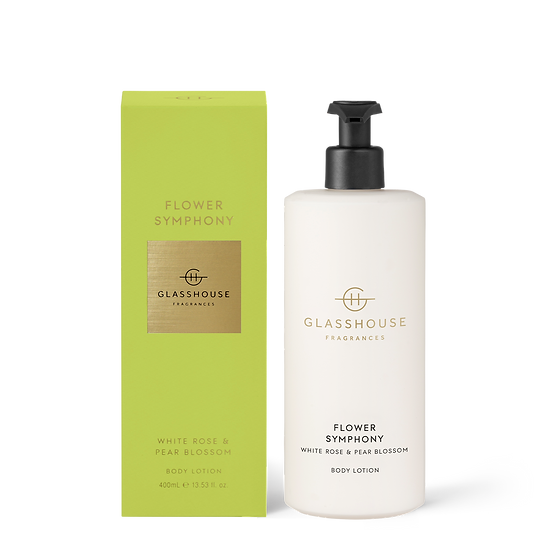 Glasshouse Body Lotion, Flower Symphony - White Rose & Pear Blossom