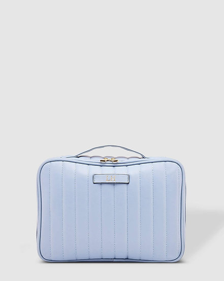 Maggie Chambray Cosmetic Case