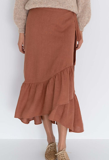 Cinnamon Macy Wrap Skirt