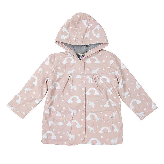 Pale Pink Colour Changing Raincoat
