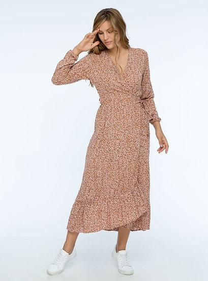 Isha Maxi Dress Blush Floral