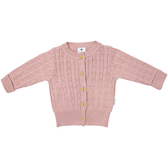 Fine Cable Knit Cardigan