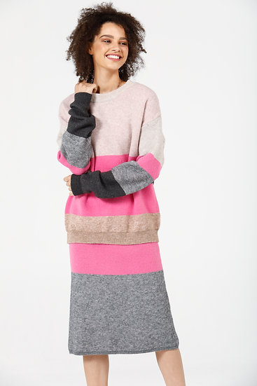Lost and Found Knit Set - Pink Multi