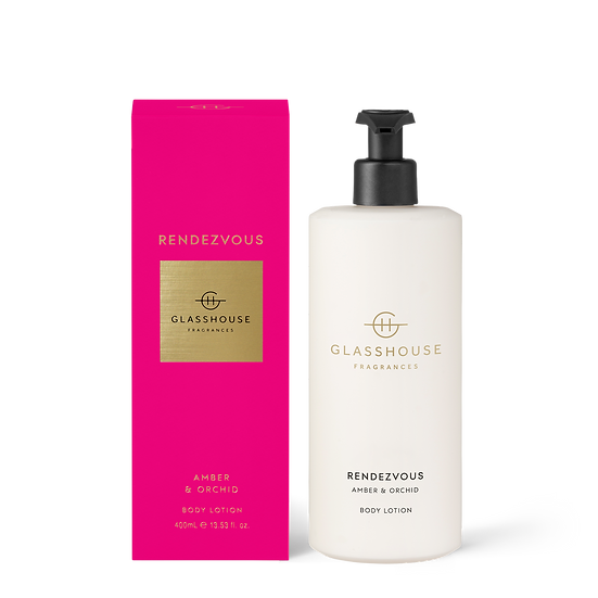 Glasshouse Body Lotion, Rendezvous - Amber & Orchid