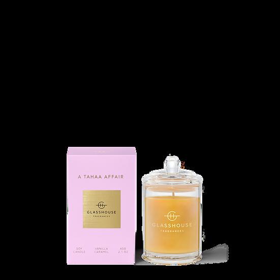 Glasshouse Candle 60g, A Tahaa Affair - Vanilla Caramel
