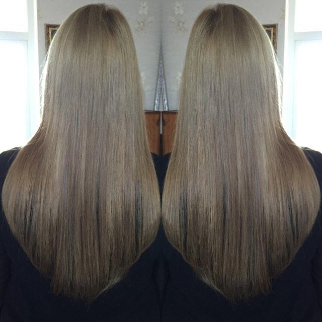Наращивание детской славянки 120 грамм 45-50 см😍🎄🎁🎉🎊#наращиваниеволос #волосысочилюкс #волосы#в