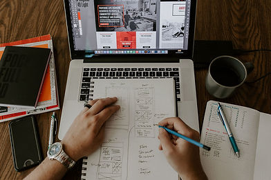 Person Sketching and Designing a Custom Website