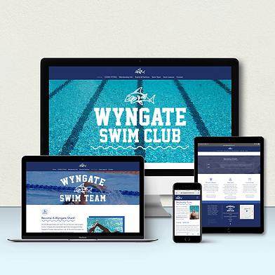 Custom Website Design for Wyngate Swim Club
