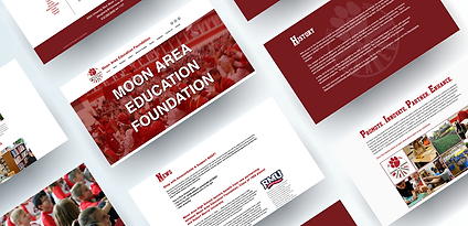 Moon Area Education Foundation Website Layout