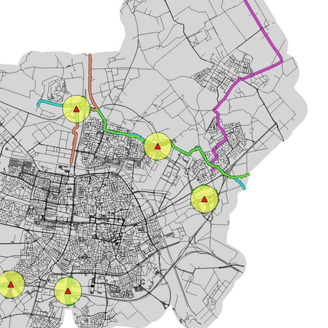 Geomapping biking in Tilburg