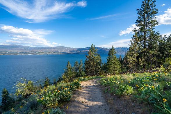 A beautiful Hiking trail overlooking Oka