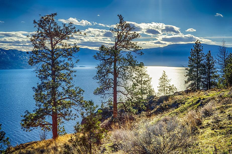 View of Okanagan Lake Peachland British