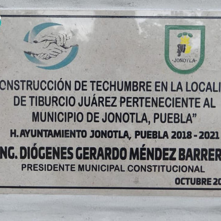 IGNAUGURACIÓN DE TECHUMBRE.