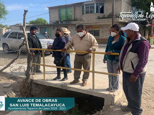 AVANCE DE OBRAS EN SAN LUIS TEMALACAYUCA.