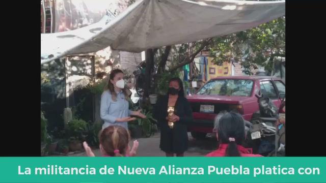 PLATICAS CON MILITANCIA NUEVA ALIANZA PUEBLA.
