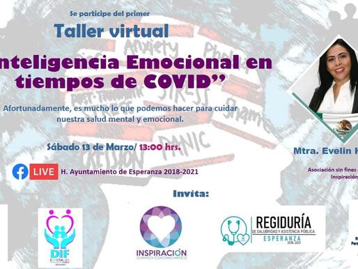 INVITACION A TALLER VIRTUAL EN ESPERANZA.