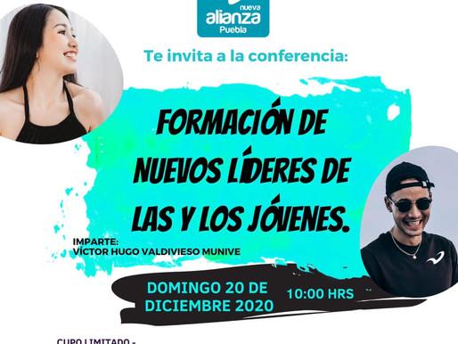 """INVITACION A LA CONFERENCIA """"FORMACION DE NUEVOS LIDERES DE LAS Y LOS JOVENES"""""""
