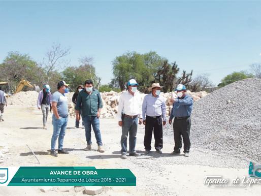 AVANCE DE OBRA EN CONSTRUCCION DE SALÓN SOCIAL EN SAN ANDRÉS CACALOAPAN.