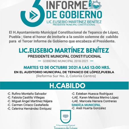 TERCER INFORME DE GOBIERNO, TEPANCO DE LOPEZ.