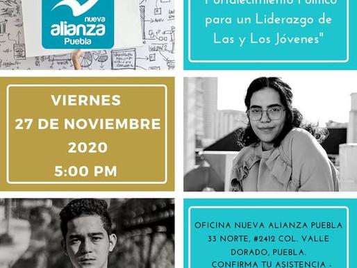 """INVITACION A LA CONFERENCIA """"FORTALECIMIENTO POLITICO PARA UN LIDERAZGO DE LAS Y LOS JOVENES"""""""
