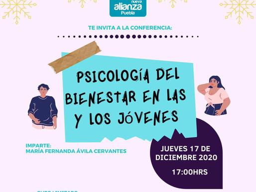 """INVITACION A LA CONFERENCIA """"PSICOLOGIA DEL BIENESTAR EN LAS Y LOS JOVENES"""""""