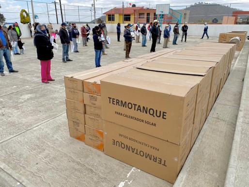 """ENTREGA DE CALENTADORES SOLARES DEL """"PROGRAMA DE CALIDEZ SUSTENTABLE"""""""