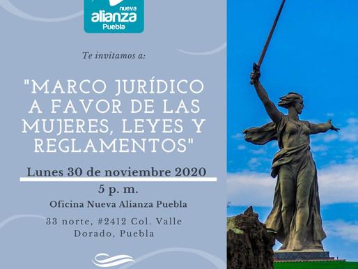 """INVITACION A LA CONFERENCIA """"MARCO JURIDICO A FAVOR DE LAS MUJERES, LEYES Y REGLAMENTOS"""""""