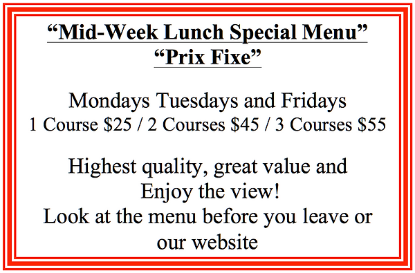 Mid Week Lunch Special Menu A3 Sign lami
