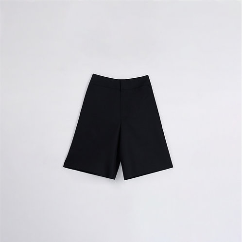 BLACK WIDE LEG CROPPED PANTS