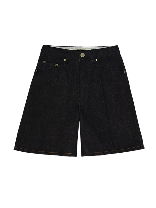INDIGO DENIM A-LINE SHORTS