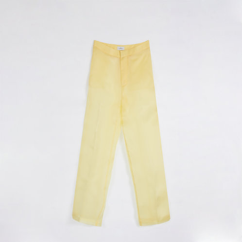 YELLOW ORGANZA WIDE LEG PANTS