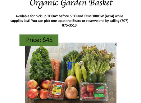 Organic Garden Baskets NOW AVAILABLE - TODAY