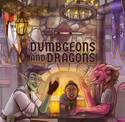 Dumbgeons & Dragons Cover Art