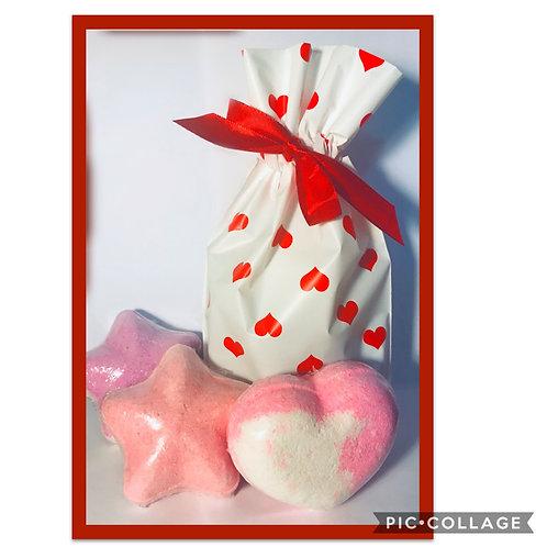 Valentines Bath Bomb Gift Bag