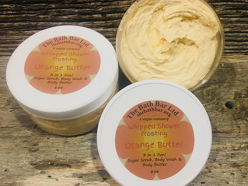 Orange Butter Whipped Shower Frosting