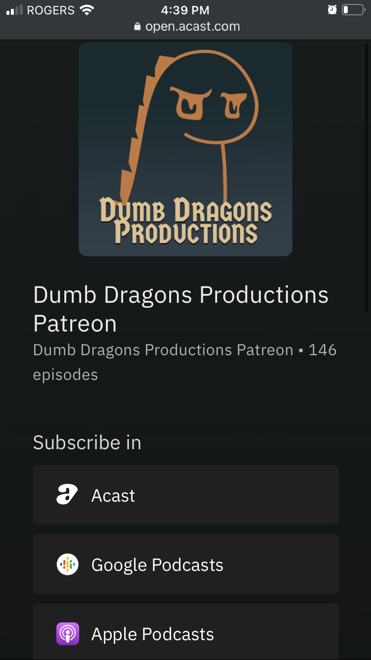 Selection screen for subscribing to your unique Patreon feed.