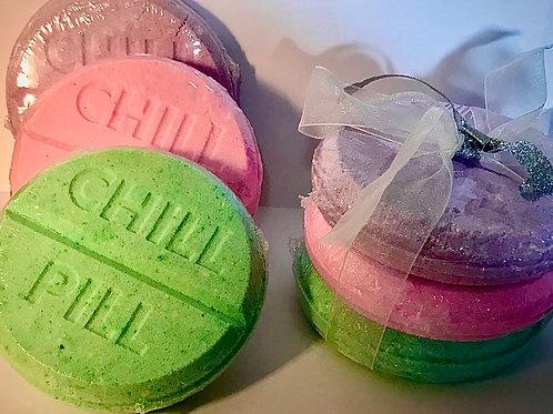 Chill Pill Bath Bomb Trio