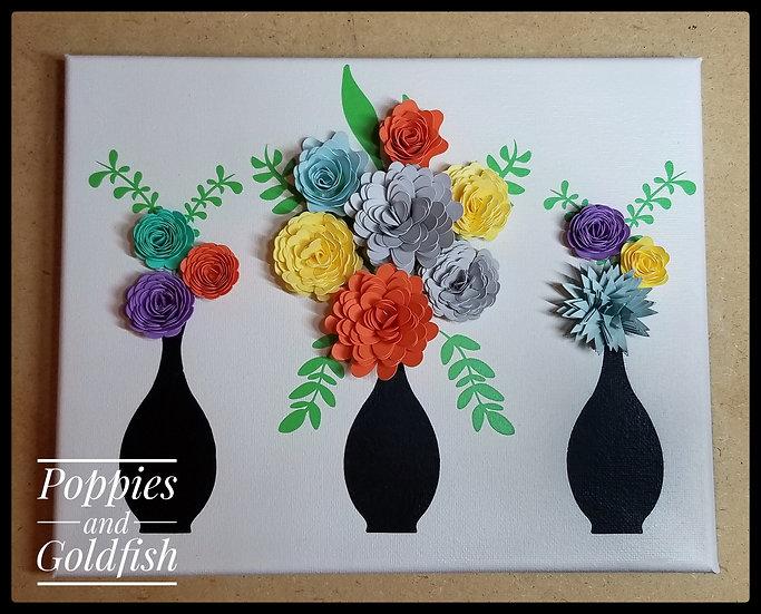 "Paper Flower Canvas 8"" x 10"""