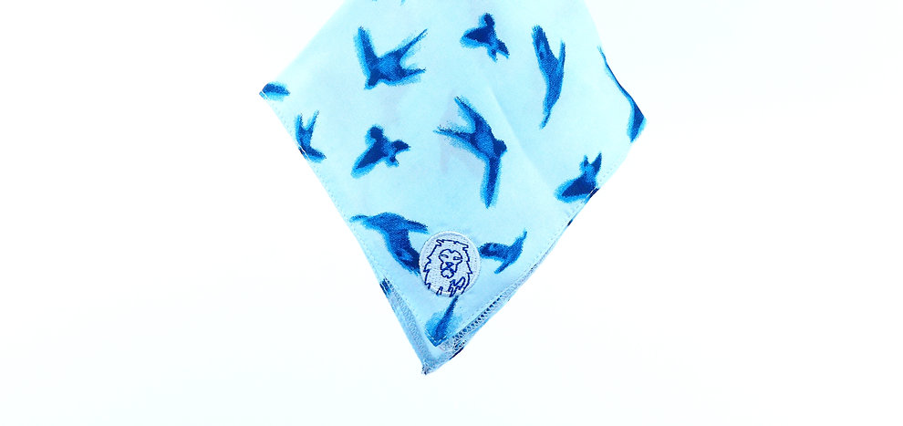 Bird-Print Silk - Pocket Square