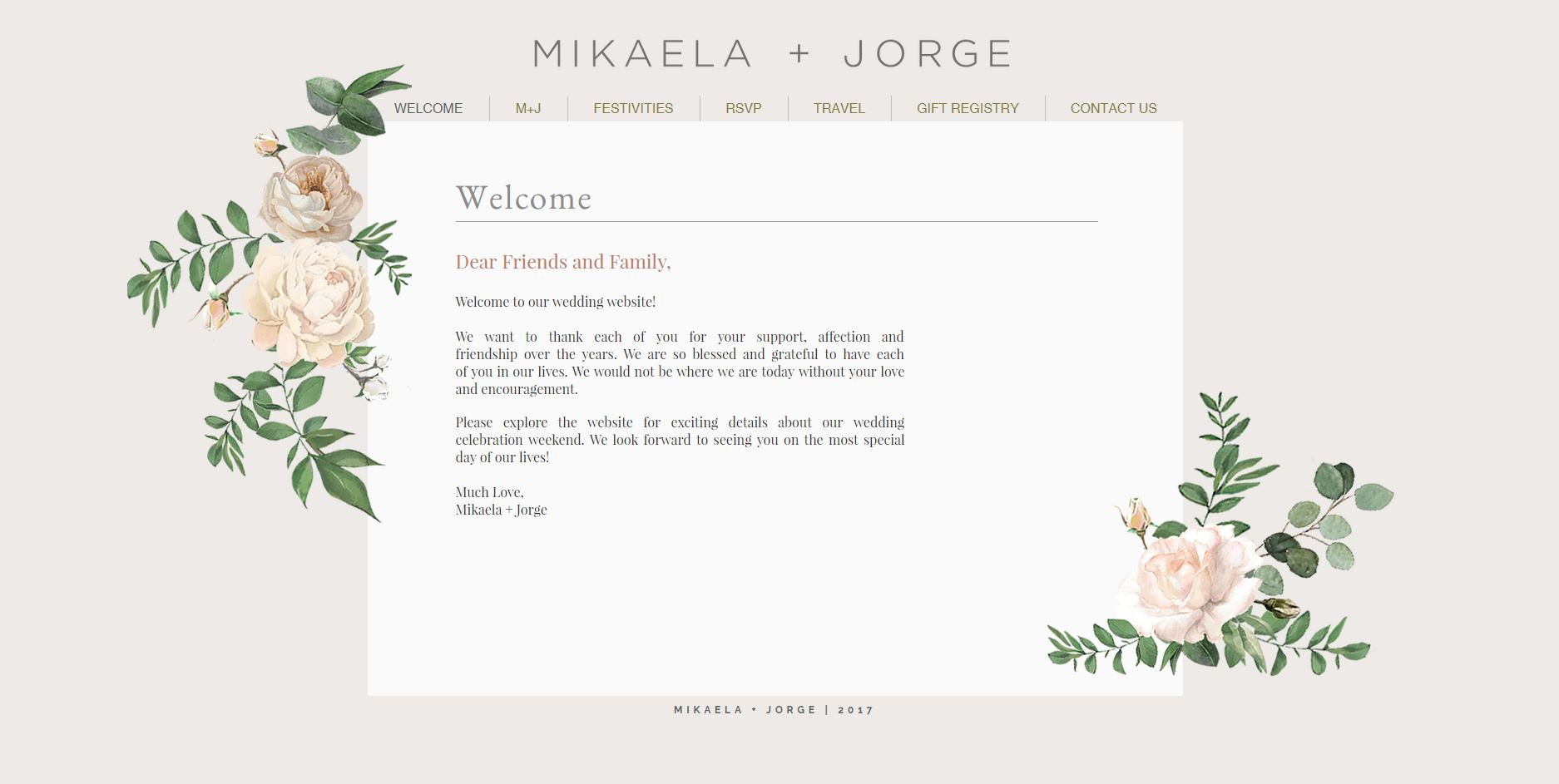 Website Welcome Page - English