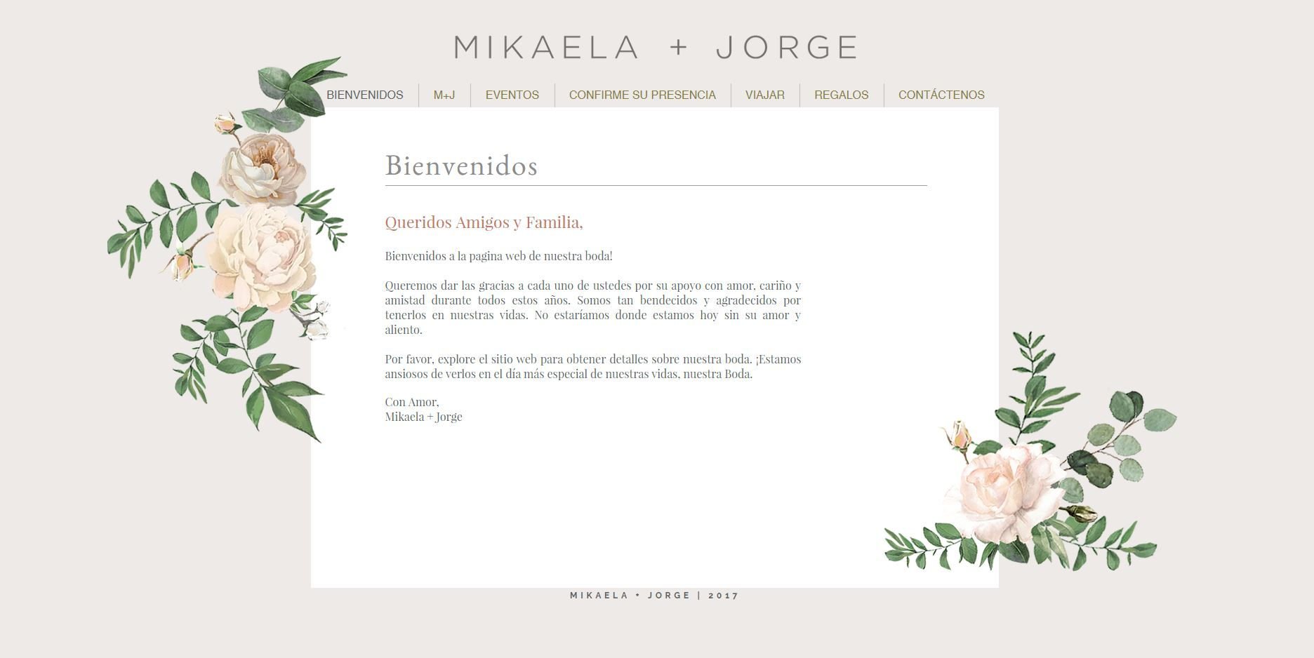 Website Welcome Page - Spanish