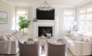 fiddle leaf fig interior design fireplace