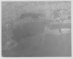 Aerial view of Albany c 1962