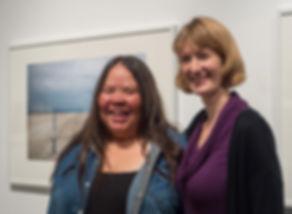 Jennifer Little and Kathy Bancroft at Jennifer's exhibition reception