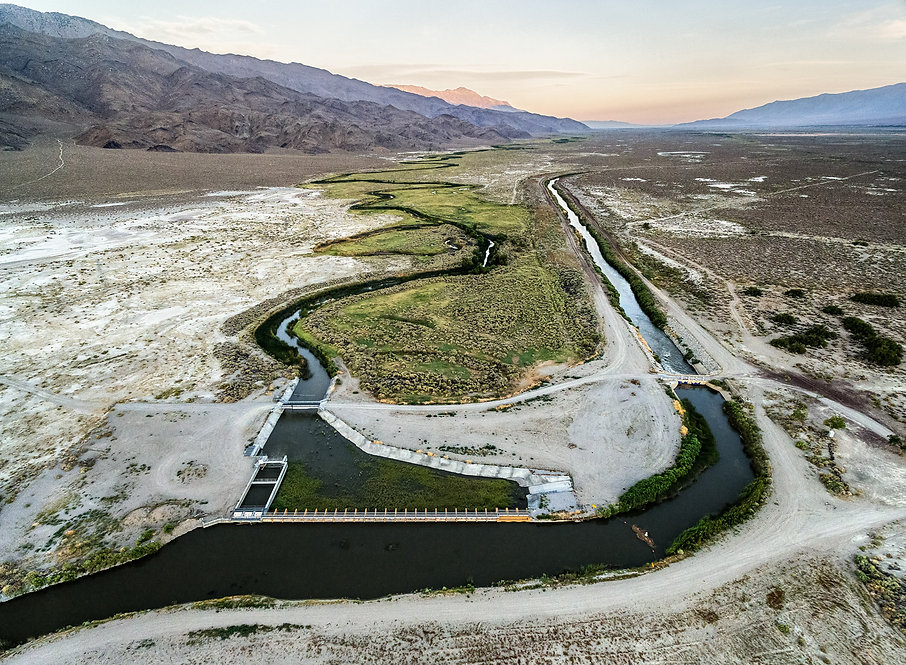 Aerial View of the Los Angeles Aqueduct Intake