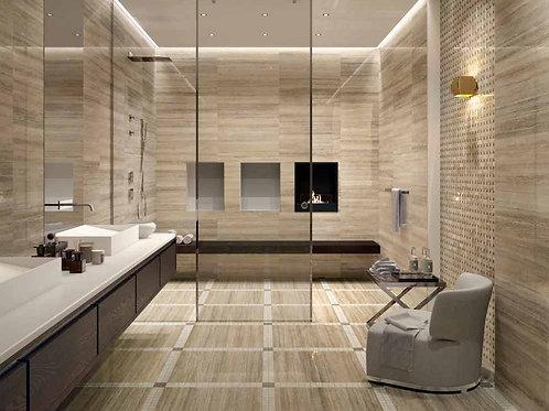 Travertino Floor Project Silver