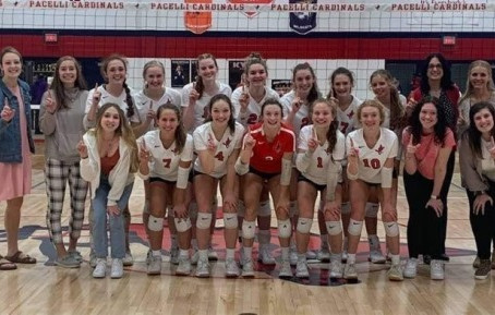 PACELLI VOLLEYBALL WRAPS UP CWC SOUTH TITLE