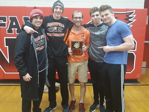 MARSHFIELD BOYS SWIMMING WINS TWO EVENTS, TAKES SECOND AT CHIPPEWA FALLS INVITATIONAL