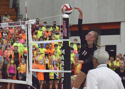 MARSHFIELD WINS TWO OF THREE MATCHES AT WISCONSIN VALLEY CONFERENCE VOLLEYBALL MEET