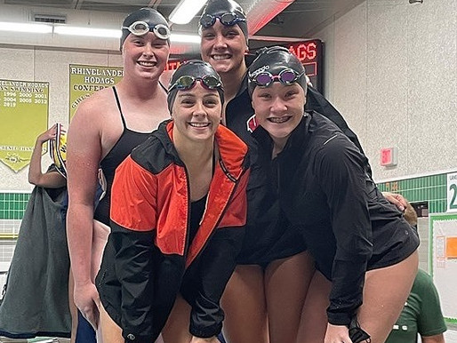 MARSHFIELD GIRLS SWIM TEAM SETS NEW MEET RECORDS, WINS FOUR EVENTS AT HODAG RELAYS